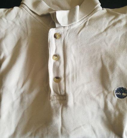 TIMBERLAND Koszulka Polo ROZMIAR M Męska Kolor Biały - SUPER