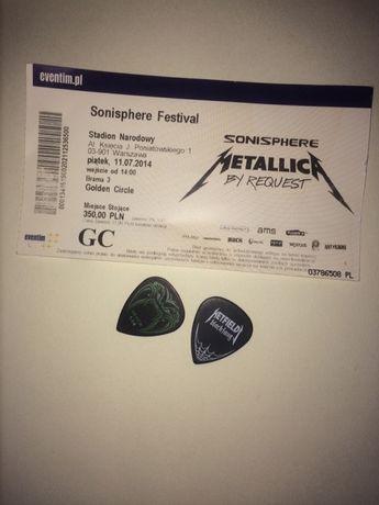 MetallicA piórko Jamesa Hetfielda blackfang kostka z koncertu