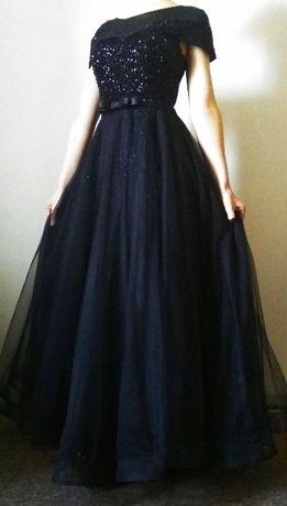 Платье вечернее, черное