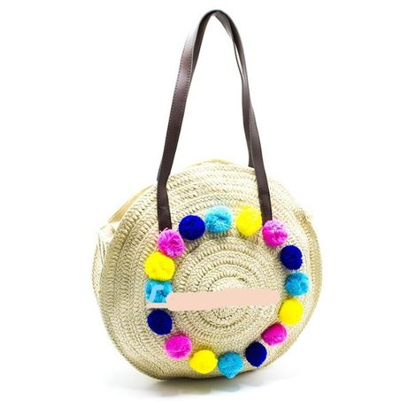 Хит сезона 2020! плетеная сумка с бубонами!