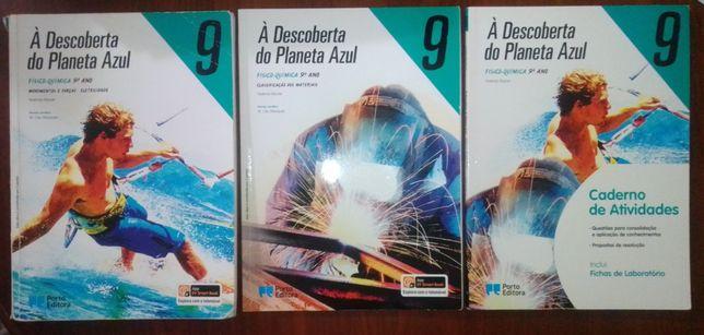 Manuais+cadernos atividades 9 ano(Físico-química e inglês) 15€ cada
