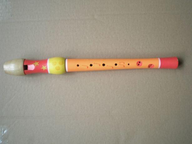Flet sopranowy drewniany prosty