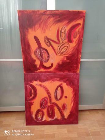 Vendo 2 pintura em tela 60X60