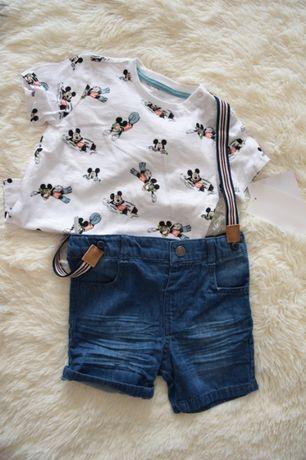 NOWY komplet Disney Baby spodenki + t-shirt
