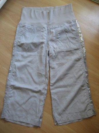 oasis linen - spodnie ciążowe 3/4 lniane 38