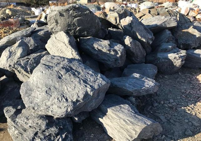 Czarny Kamień do Akwarium Terrarium na Pomnik Filit Łupek Piastów