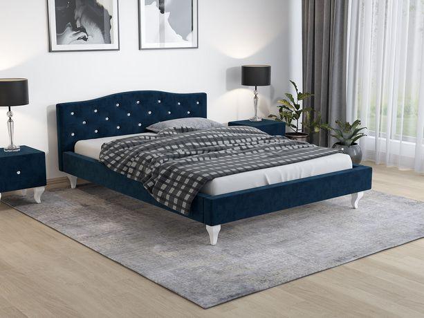 Łóżko tapicerowane 140x200 skandynawskie z materacem