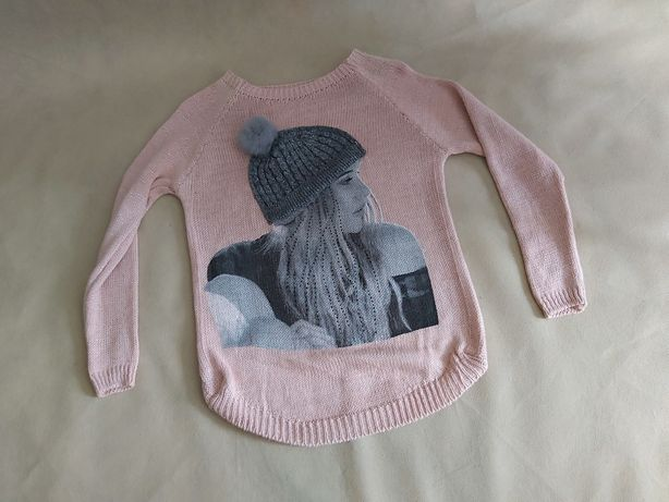 Nowy damski sweter  błyszczącą nitka pompon UNI