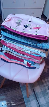 Paka ubrań dla dziewczynki 122 30szt