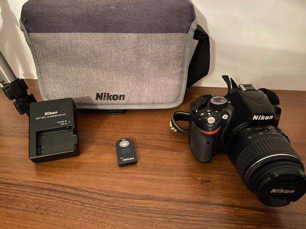 Lustrzanka Nikon D3200 zestaw