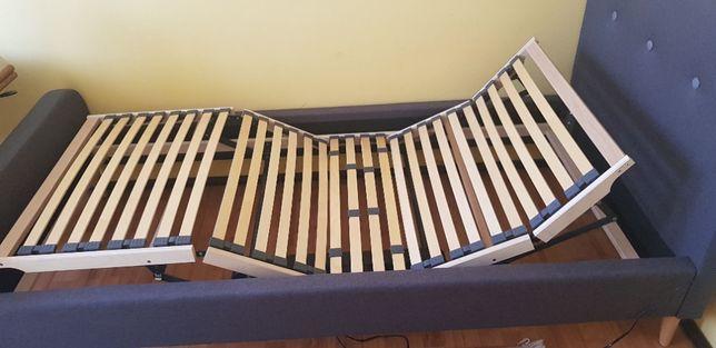 Łóżko rehabilitacyjne elektryczne z ramą regulowaną i materac PILOT
