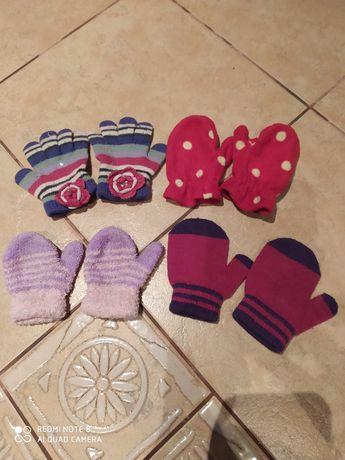Rękawiczki dla dziewczynki 1-2 latka zestaw