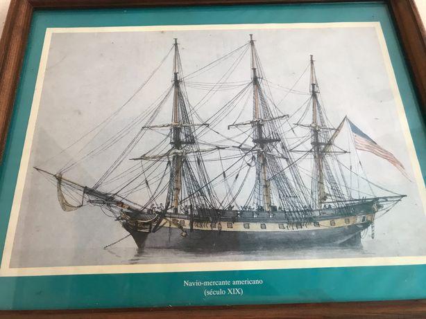 Quadros barcos históricos (4 quadros)