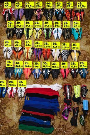 Бутсы, футзалки, сороконожки, копы Adidas, Nike