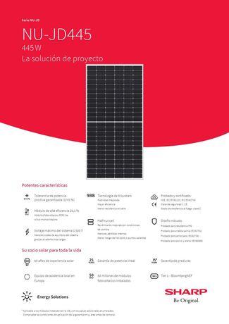 Painel Solar Fotovoltaico - Sharp Solar 445W (M-144)
