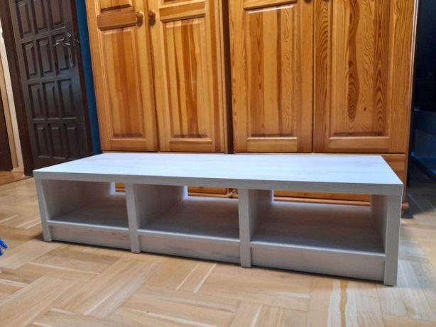 Szafka stolik RTV 147 cm, biała sosna