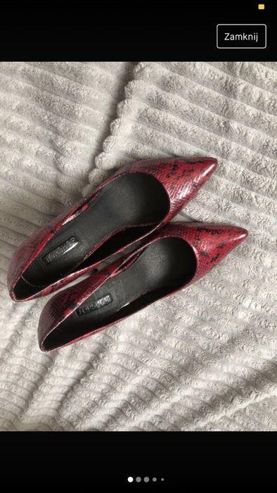 Czerwono czarne szpilki 38 Malbork - image 1
