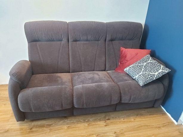 Kanapa z funkcją spania i fotel rozkładany (stan bardzo dobry)