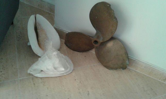 Hélice em bronze com 45 cm de diâmetro