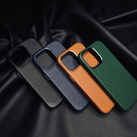 Чехол чохол айфон iphone кожаный wiwu leather case 13 pro max про макс