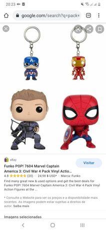 Keychains Marvel pops iron man captain América exclusivos