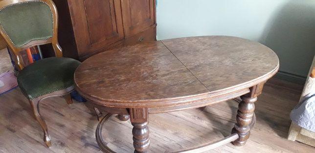Piękny dębowy  Stół ława