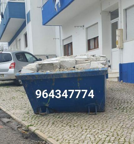 Recolha de todo o tipo de entulho e resíduos urbanos em contentores