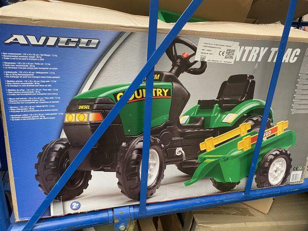 Педальний трактор + причіп 2-5 років на педалях с прицепом