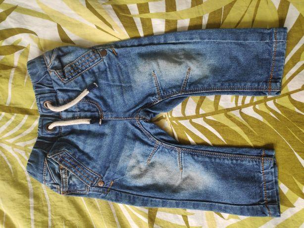 jeansowe spodnie Next, rozmiar 82