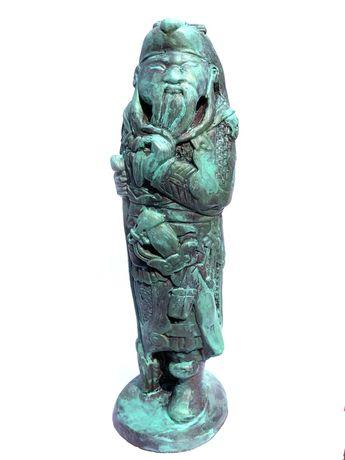 Figurka Chiny XI-XIII w. zielona patyna