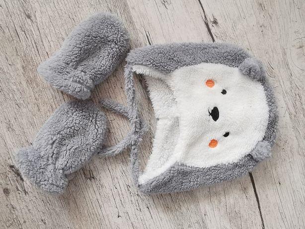 Czapki - Zestaw niemowlęcy zimowy