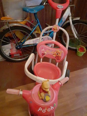 Коляска и велосипед
