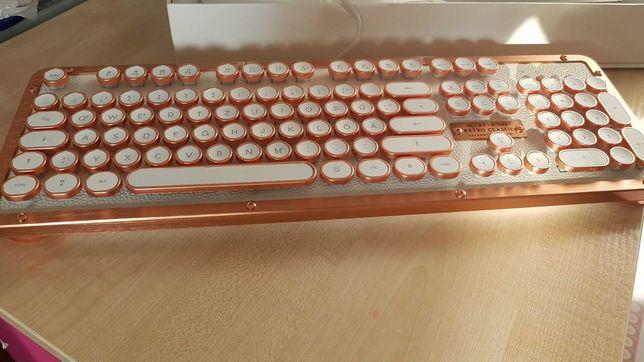 Azio Retro Classic  -  винтажная механическая клавиатура с подсветкой