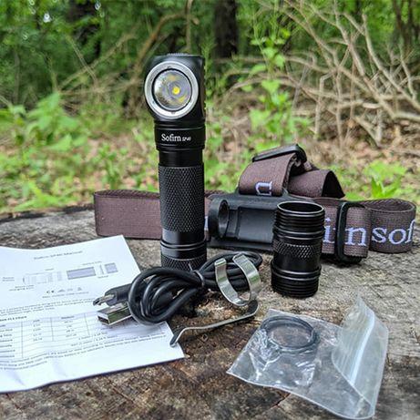 Налобный фонарь  Sofirn SP40 на Cree XPL (1200lm)  Фонарик с магнитом