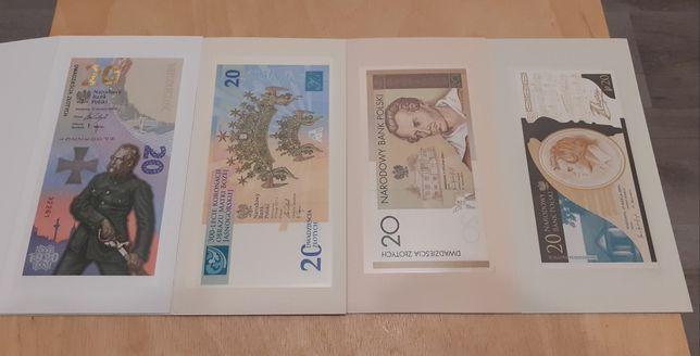 4 banknoty kolekcjonerskie !!!