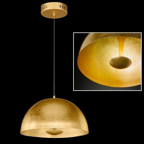 Elegancka złota kula Honsel DONAR wisząca stal LED 40 cm średnicy