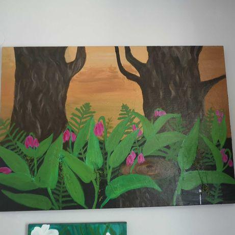 Obraz, Leśne kwiaty