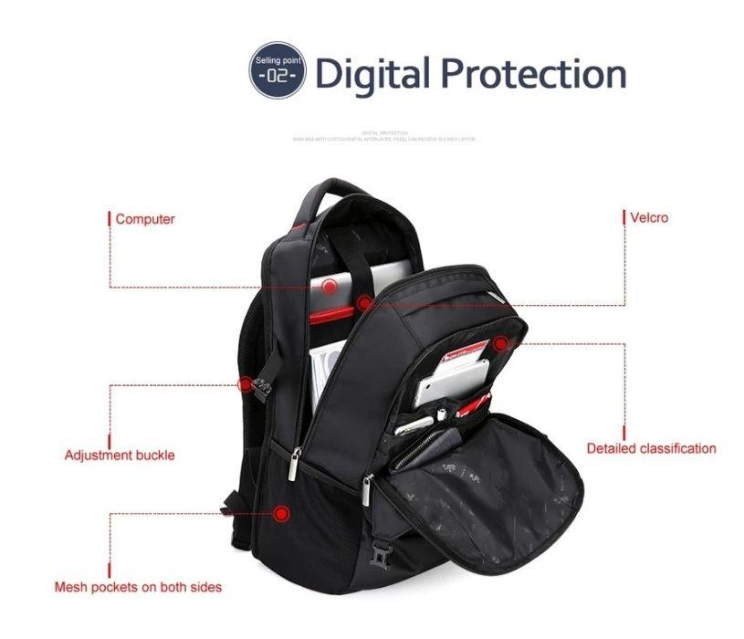 Хит продаж - рюкзак мужской городской ноутбук чёрный . Ивано-Франковск - изображение 1
