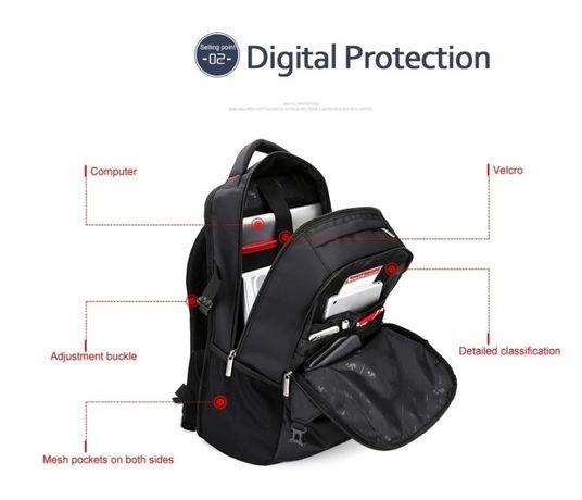 Хит продаж - рюкзак мужской городской ноутбук чёрный .