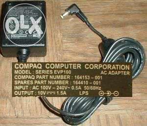 Carregador/ transformador Compaq EVP100