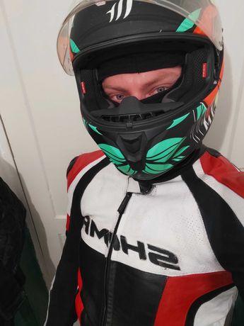 Шкіряний мотокостюм shima 52 розмір