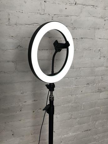 Кольцевая селфи лампа, Led лампа 26 см и штатив 210 см
