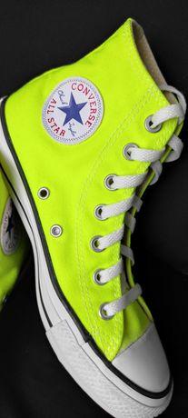 Trampki Converse neonowe rozmiar 37,5 (24 cm), stan idealny