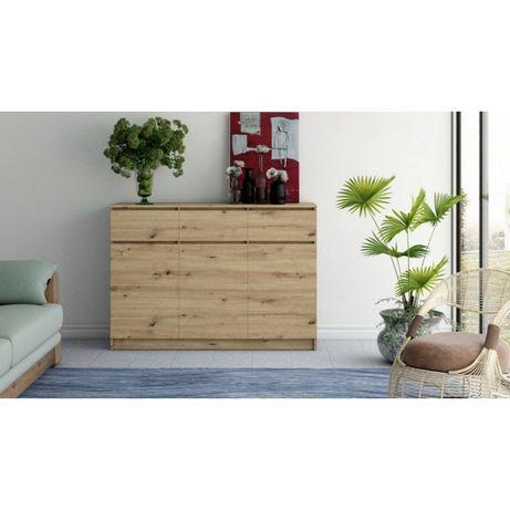 BELLA DS3 – duża komoda do salonu dąb artisan - bezpłatny transport