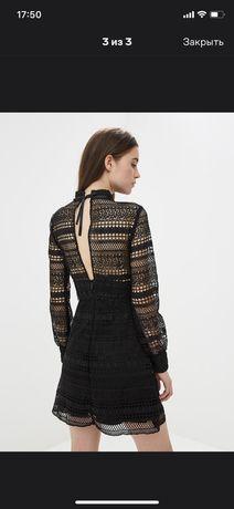 Шикарное платье с длинным рукавом кружевное