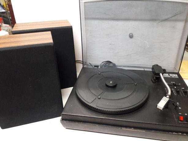 gramofon Artur z głośnikami stereo