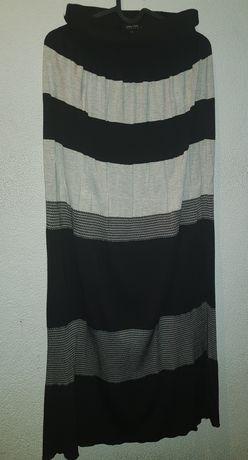 Długa sukienka Patrizia pepe. Rozmiar uni. Bez ramiaczek. Czarno biala