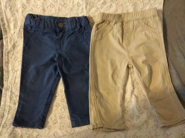 Spodnie 2x chłopięce niemowlęce 74 80