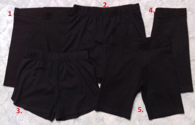 Krótkie spodenki-getry-szorty WF czarne 7-8lat, 8-9lat, 9-11lat NOWE