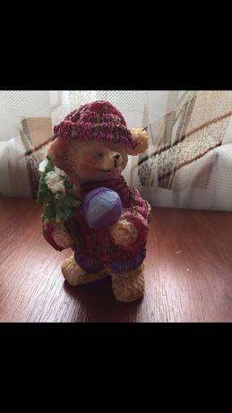 Статуетка Ведмідь з ялинкою, статуэтка на подарок